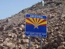 Arizona plade på vej til Grand Canyon fra Las Vegas