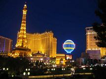 Paris Las Vegas med Eiffeltornet
