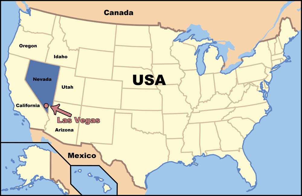 Where Is Las Vegas In America Map Virginia Map - Las vegas in usa map
